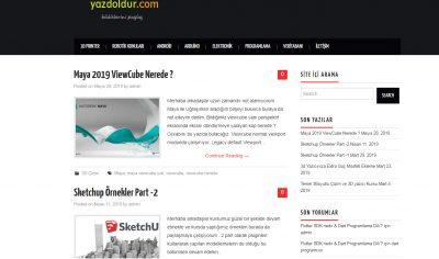 Yazdoldur Blog Web Sitesi
